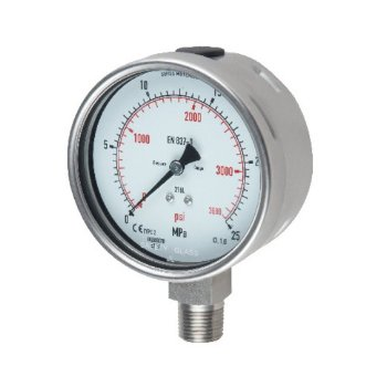 stainless steel, bottom connection pressure gauge