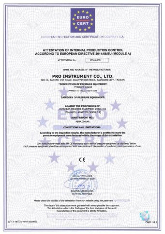 CHUEN CHARNG CO LTD CE CERTIFICATE
